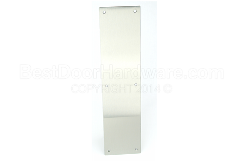 DCI Square Corner Door Push Plate