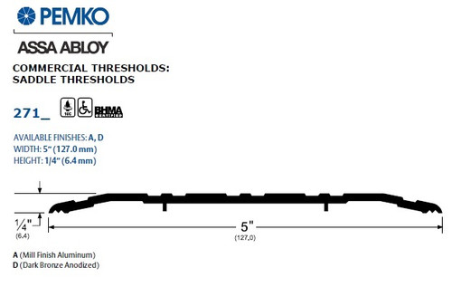 Pemko Saddle Threshold - 271