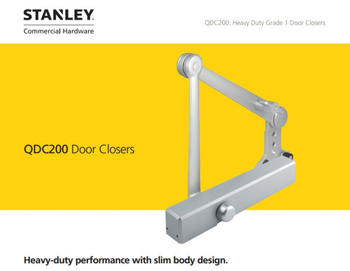 Stanley Heavy Duty Commercial Door Closer (QDC 200 SERIES) w/ Cover