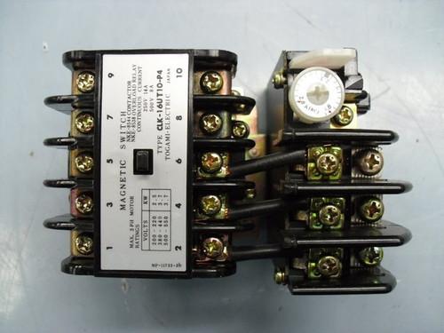 Contactor & Overload Relay CLK16UT10P4 Togami CLK-16UT10-P4