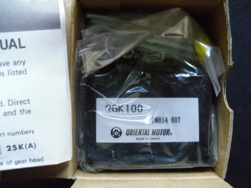 Gear Head 2GK100 Oriental Motor 100:1 2GK-100
