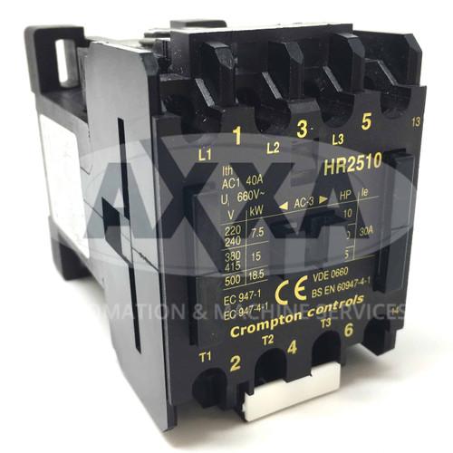 Contactor HR2510-230 Brook Crompton 230VAC 15kW 1NO HR2510