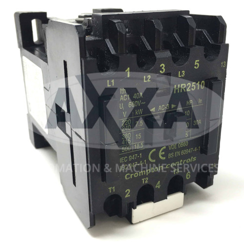 Contactor HR2510-400 Brook Crompton 400VAC 15kW 1NO HR2510