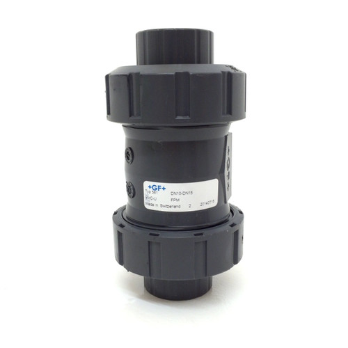 "Ball Check Valve 161561012 PVC-U Type 561 Georg Fischer DN 15mm, OD 50mm, 1/2"" 161-561-012"