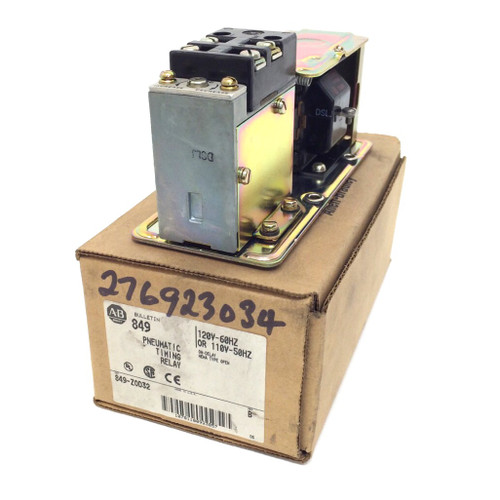 Pneumatic Timing Relay 849-Z0D32 Allen Bradley 110-120VAC 849Z0D32