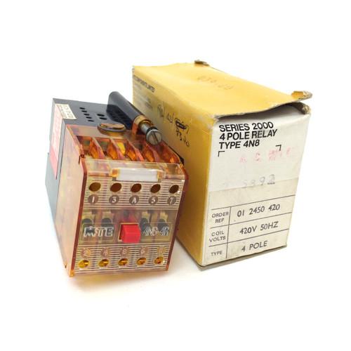 4-Pole Relay 4N8-4R-420V MTE 01-2450-420