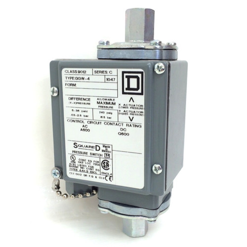 Differential Pressure switch 9012-GGW-4 Square D 9012 GGW4