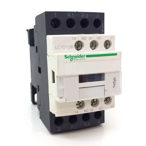 4 pole Contactor LC1D128U7 028937 Schneider 230/240VAC 5.5kW LC1D128-U7
