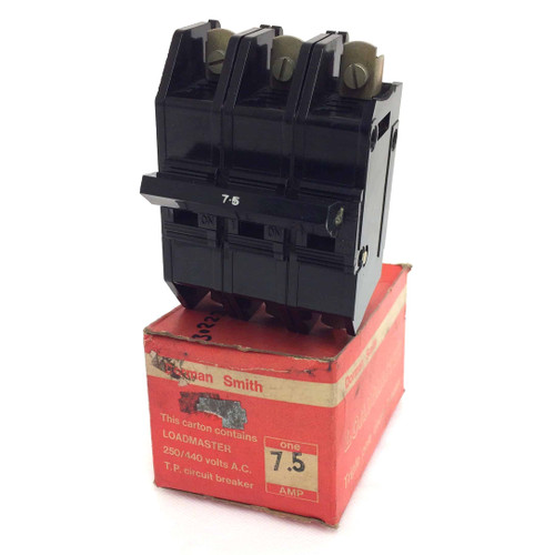 3 pole Circuit Breaker LM3P-7.5A Dorman Smith Loadmaster M3-7.5