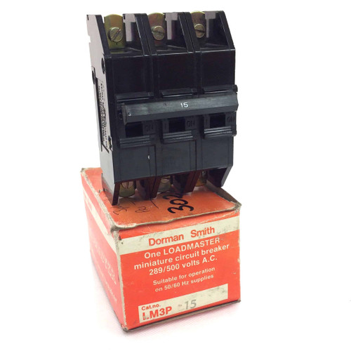 3 pole Circuit Breaker LM3P-15A Dorman Smith Loadmaster M3-15