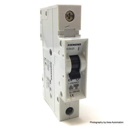 1P Circuit Breaker 5SX2104-7 Siemens 4A C-Curve 5SX21047