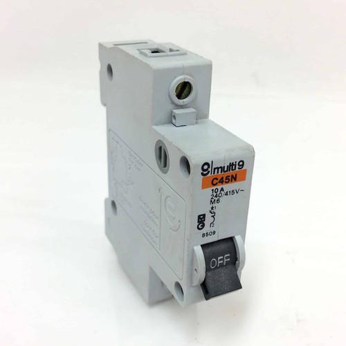 1 Pole Circuit Breaker C45N 10Amp Merlin Gerin Multi 9 C45-N *New*