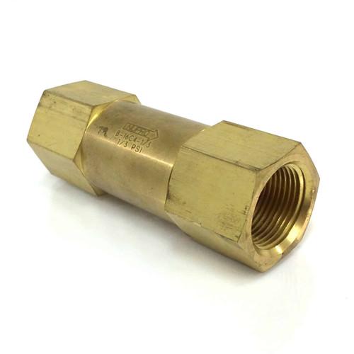 Brass Poppet Check Valve B-16C4-1/3 Nupro-Swagelok  B-16C4-1-3 *New*
