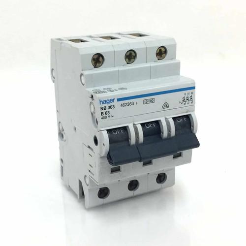 Circuit Breaker NB363B63 Hager 3P 63A B Type NB-363-B63 *New*