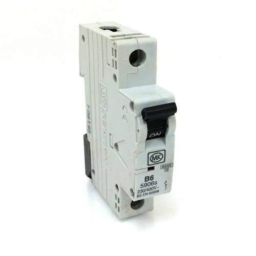 Circuit Breaker B6-5906S Sentry MK Single Pole 6A Type B curve 230/400V B65906S *New*