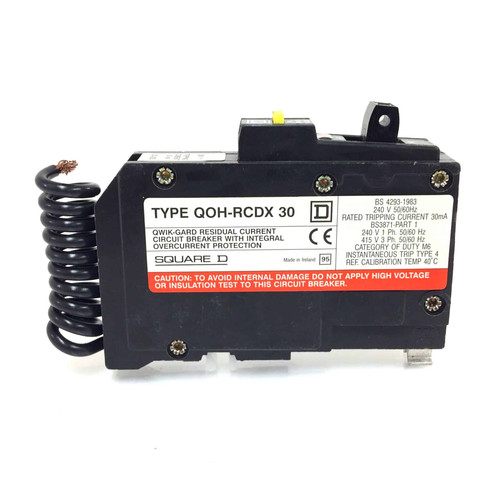 RCBO Circuit breaker QOH116RCDX30 Single Pole Square D QOH-116RCDX30