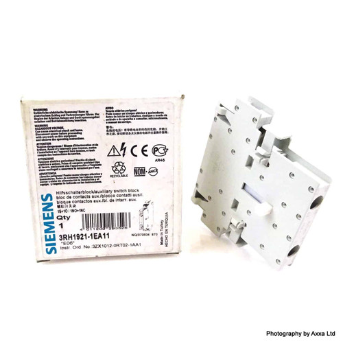 Auxilary Contact Block 3RH1921-1EA11 Siemens 1NO/1NC 3RH19211EA11