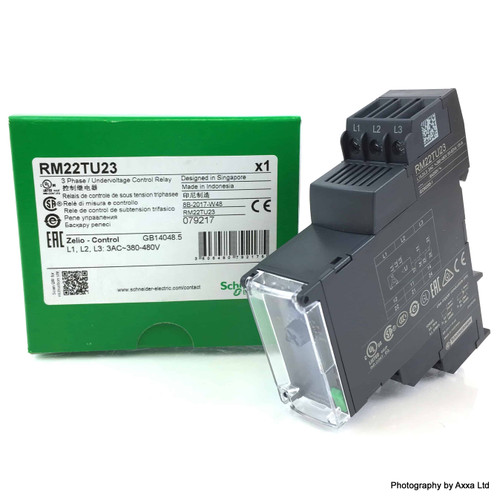 3Ph Under Voltage Control Relay RM22TU23 Schneider 079217 RM22-TU23