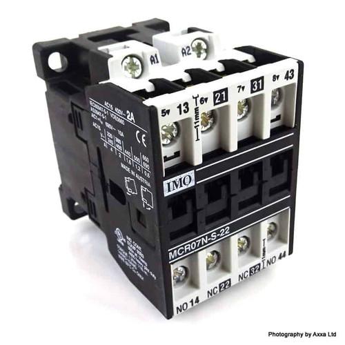 4P Contactor Relay MCR07N-S-22-110AC IMO 110/120VAC 2NO/2NC MCR07NS22-110AC