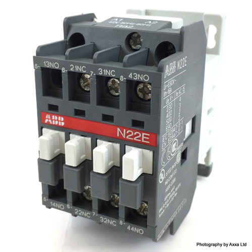 Contactor Relay 1SBH141001R8222 ABB 4 Pole 2NO 2NC 42VAC N22E-42