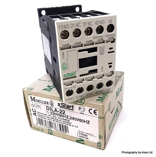 Contactor Relay DILA-22-230VAC  Moeller 230/240VAC 2NO/2NC DILA22-230VAC