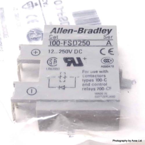 Surge Suppressor Diode 100-FSD250 Allen Bradley 12-250VDC 100-FSD250