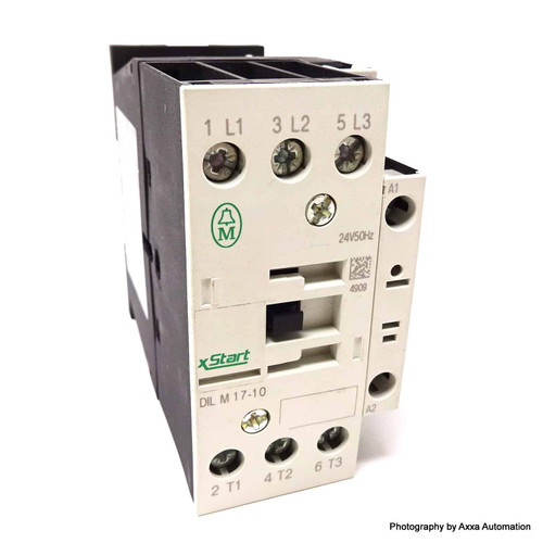 3 Pole Contactor DILM17-10-24VAC Moeller 7.5kW/400V 24VAC DILM1024VAC 276991