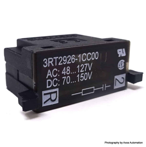 Surge Suppressor 3RT2926-1CC00 Siemens 48-127VAC 70-150VDC 3RT29261CC00