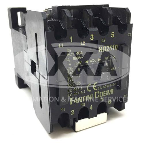 Contactor HR2510-400 Fantini Cosmi 400VAC 11kW 1NO HR2510
