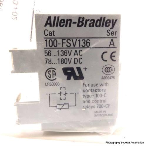 Surge Suppressor Varistor 100-FSV136 Allen Bradley 56-136VAC 100FSV136