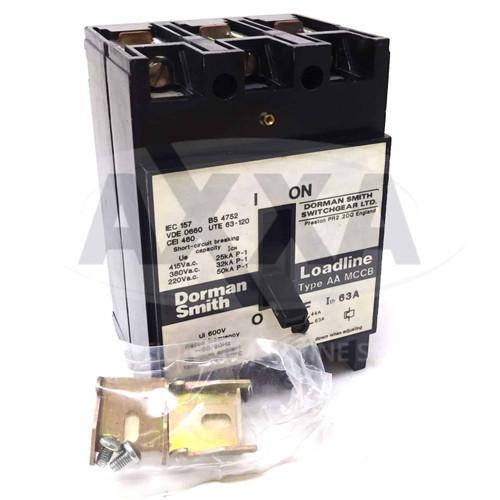 MCCB Loadline Circuit Breaker LLB3PAA83 Dorman Smith 63A