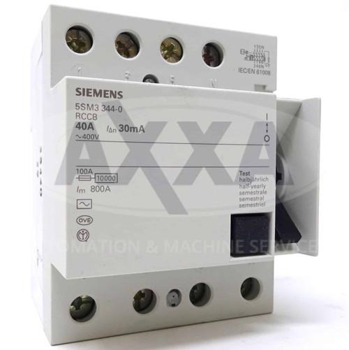 4P RCCB 5SM3344-0 Siemens 40A 30mA 5SM33440