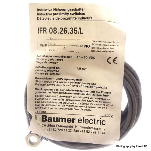 Inductive Proximity Switch IFR-08.26.35/L Baumer 1.5mm 10-30VDC IFR08.26.35/L