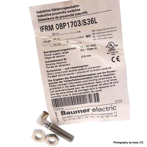 Inductive Proximity Switch IFRM-08P1703/S36L Baumer 2.0mm 10-30VDC NO IFRM08P1703/S36L
