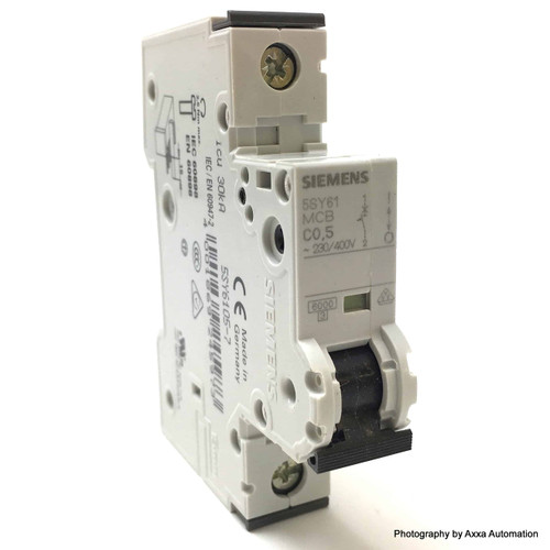 1P MCB 5SY6105-7 Siemens 0.5A C-curve 5SY61-C0.5