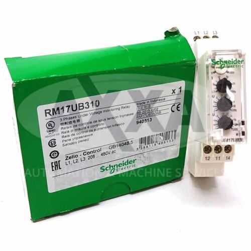 3Ph Control Relay RM17UB310 Schneider 208-480VAC 940513
