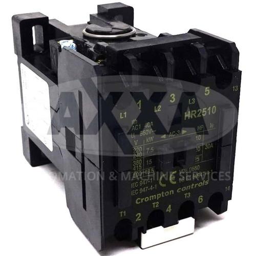 Contactor HR2510-24 Brook Crompton 24VAC 15kW 1NO HR2510