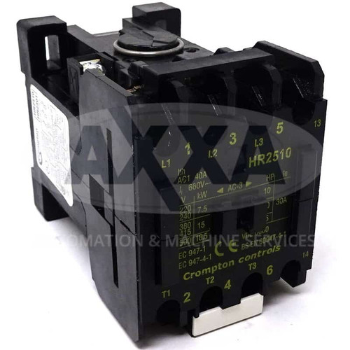 Contactor HR2510-48 Brook Crompton 48VAC 15kW 1NO HR2510