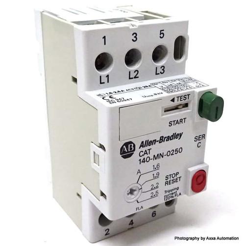 Circuit Breaker 140-MN-0250 Allen Bradley 1.6-2.5A 140MN0250 *Used*