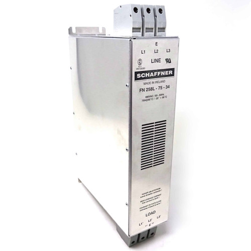 RFI Line Filter FN258L-75-34 Schaffner 75AMP 480VAC 50/60Hz FN258L7534 *New*