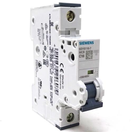 1P MCB 5SY6116-7 Siemens 16A C-curve 5SY61167 5SY61-C16 *New*