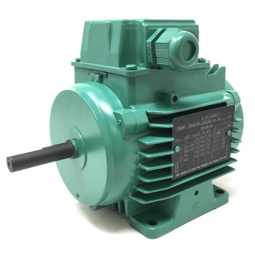 3Ph AC Motor LS63M/T Leroy-Somer GEA Searle, 0.2kW, 230/400VAC, 4-Pole, 1410rpm, B3 foot mount 209-200-304