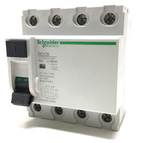 4P RCCB 23123 Schneider 40A 30mA RMG400304