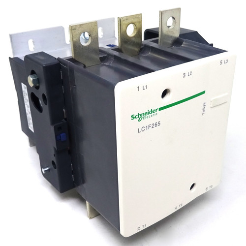 Contactor Series LC1F265 Schneider - AC3: 132kW 350A at 400V LC1F