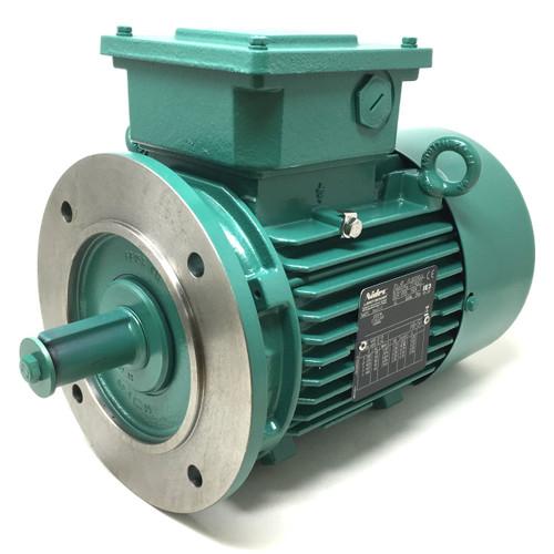 Cast Iron IE3 3Ph AC Motor FLSES90LU Leroy-Somer, 1.5kW, 230/400VAC, 4-Pole 1454rpm, B5 flange mount, 4909939