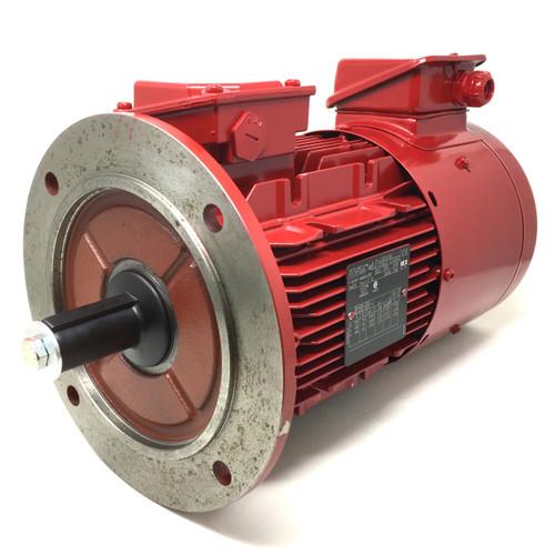 IE2 3Ph AC Motor LSES100L Leroy-Somer, 2.2kW, 230/400VAC, 4-Pole 1440rpm, B5 flange mount, Forced Ventilation 4883588