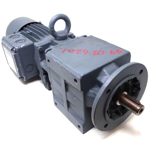 Braked Geared Motor BG10Z-37/D06LA4-S/E003B9HN Bauer 0.12kW 13.5rpm B5