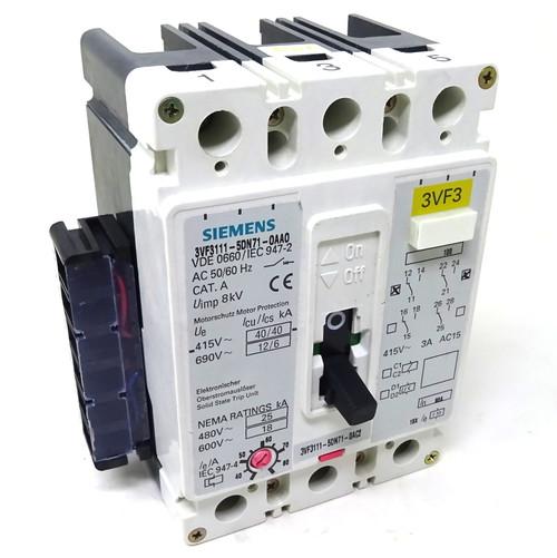 MCCB Circuit Breaker 3VF3111-5DN71-0AC2 Siemens 80A 3P