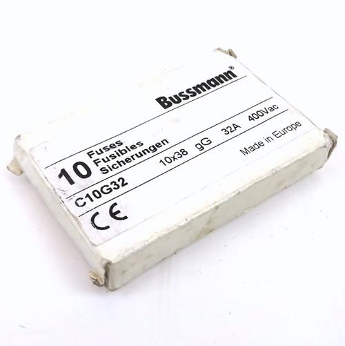 Pack of 10 fuses C10G32 Bussmann 32A gG 400VAC