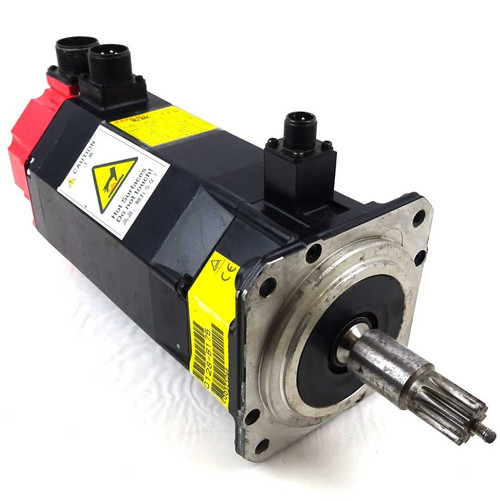 3ph AC Servo Motor A06B-0128-B175 Fanuc 1.4kW 3000rpm 6.0Nm *Tested*